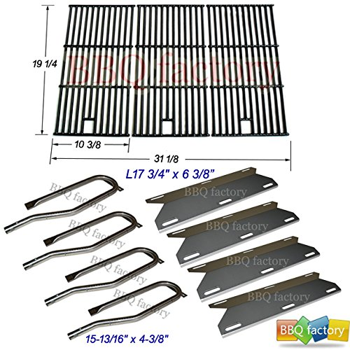 bbq factory Jenn Air Gas Grill 720-0337 Replacement Burners,Heat Plates,Grill Grid Grates