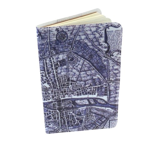 Map of Paris Moleskine Notebook Cover