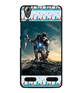 PrintDhaba Warriors D-4126 Back Case Cover for LENOVO A6000 PLUS (Multi-Coloured)