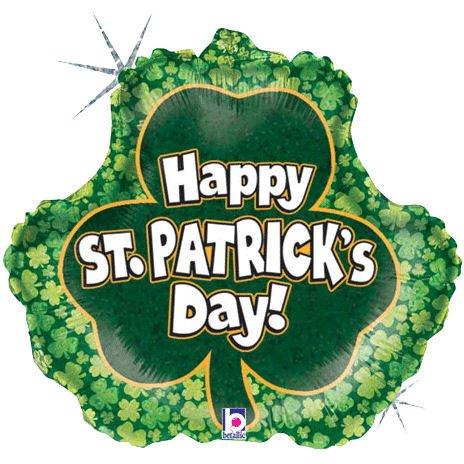 "18"" St. Patricks Shamrock Holographic"