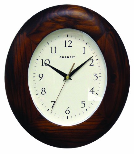 Chaney 46038 11.6 inch Oval Wood Wall Clock
