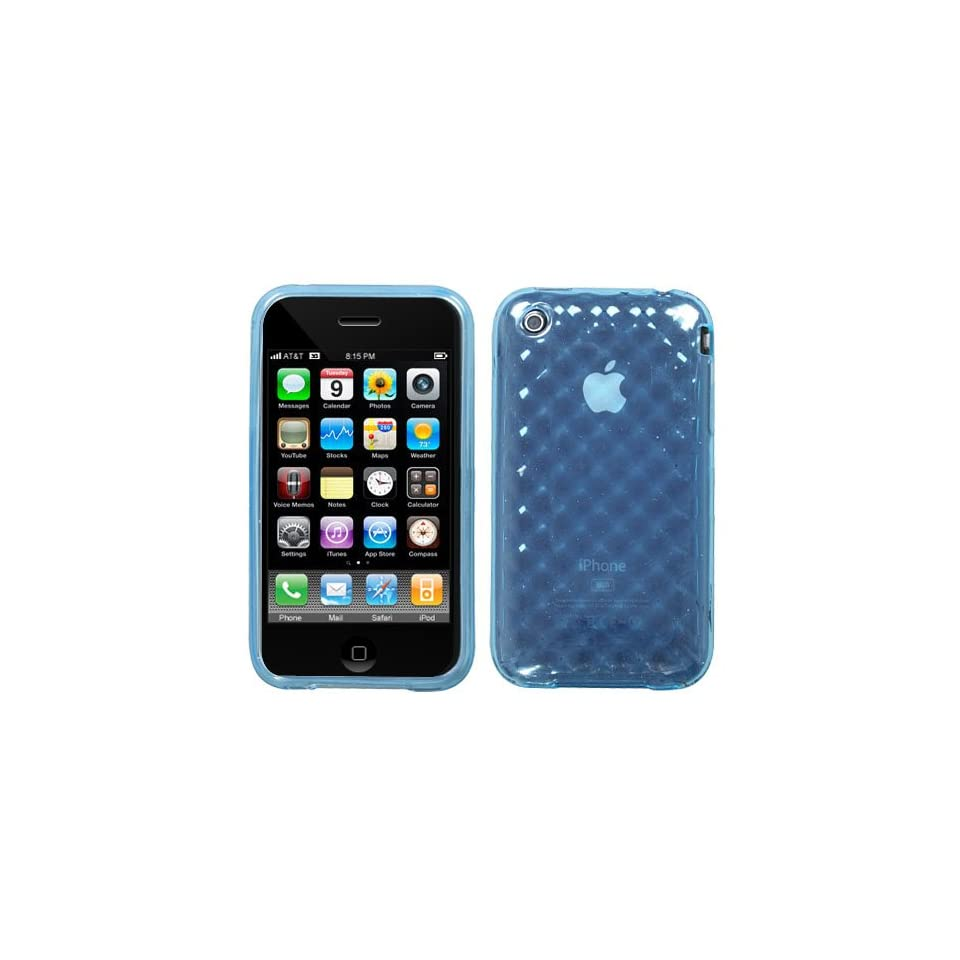 Apple Iphone 3g/3gs Bably Blue Argyle Premium Candy Skin Cover Case