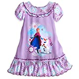 Disney Store Frozen Anna Olaf Nightgown for Girls - Purple