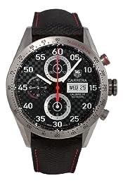 TAG Heuer Men s CV2A80 FC6256 Carrera Grey Carbon Fiber Dial Watch