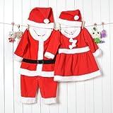 かわいいベビーサンタクロース・サンタクロースカバーオール 帽子付 80サイズ