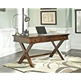 Burkesk Medium Brown Home Office Desk