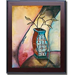 Blue Vase IV by Frederique Premium Framed Canvas (Ready-to-Hang)