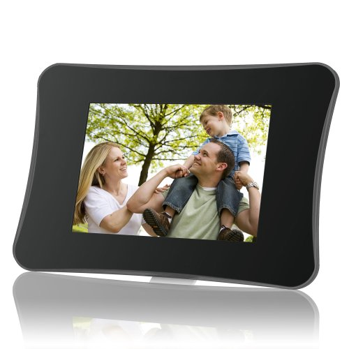 Coby Dp710 7-Inch Widescreen Digital Photo Frame With Mp3 Player (Black)