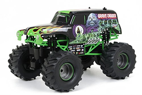 New Bright 61030G 9.6v Monster Jam Grave Digger Remote Controlled Car, 12-Inch (Monster Trucks Rc compare prices)