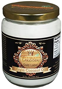 16-oz glass - Gold Label Organic Virgin Coconut Oil - 1 pint