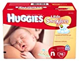 Huggies Little Snugglers Diapers for Newborn, Big Pack, 76 Count Kids, Infant, Child, Baby Products