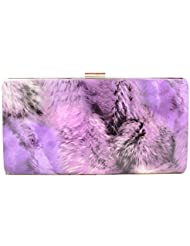 Omkar Shopy New Fashion Women's Ladies PU Clutch/Purse With Sling (Cross Body Bag)(purple) OS12500343