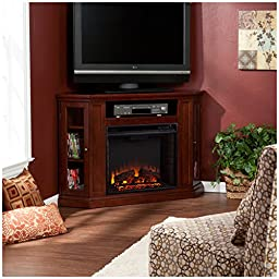 Holly & Martin Ponoma Convertible Media Electric Fireplace, BLACK