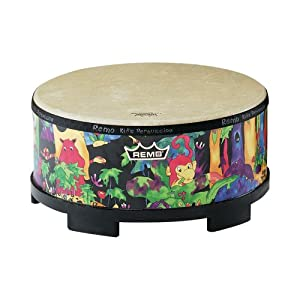 Remo KIDS PERCUSSION, Gathering Drum, 16 Diameter, 8 Height, Rain Forest Fabric from Remo