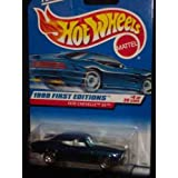 70 Chevy Chevelle Ss Hot Wheels 1999 First Editions Blue 1970 Chevelle Ss 1:64 Scale Collectible Die Cast Metal...