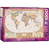 Eurographics Map of The World-1000 Piece Puzzle