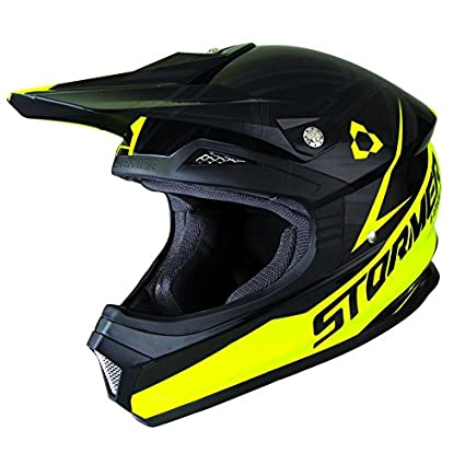 STORMER STORMFEDGENJ Casque Cross Stormer Force Edge Noir Jaune XL