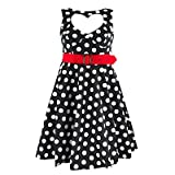 "Hell Bunny Kleid SWEETHEART DRESS black/whitevon ""Hell Bunny"""