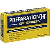 Preparation H Hemorrhoidal Suppositories - 12 CT