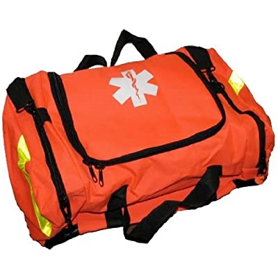 Tactical First Aid Kit: Ever Ready First Aid Large EMT First Responder Trauma Bag, Orange by Ever Ready First Aid