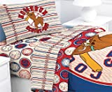 Scooby-Doo Baseball Homerun - 4pc Bed Sheet Set - Full Size Bedding