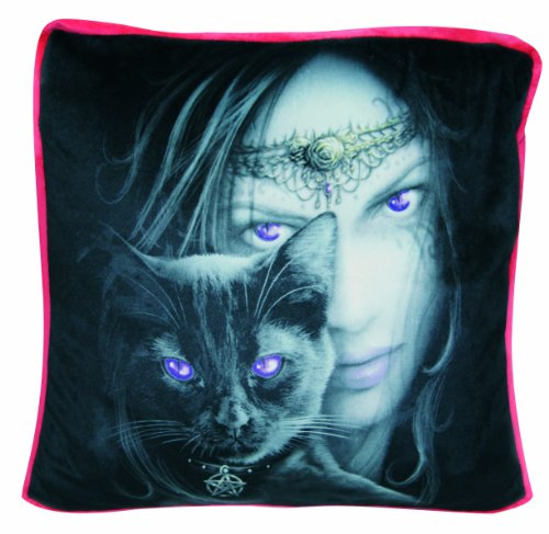 Spiral Cats Eyes Cuscino decorativo nero/rosso