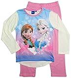 Frozen Pyjama Kollektion 2016 Die Eiskönigin 98 104 110 116 122 128 Schlafanzug Völlig Unverfroren Mädchen Lang Anna und Elsa Neu Creme-Rosa