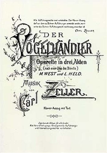 carl-zeller-der-vogelhandler-vocal-score-for-opera-coro