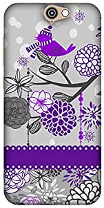 The Racoon Lean Purple Sparrow Song hard plastic printed back case / cover for HTC One A9