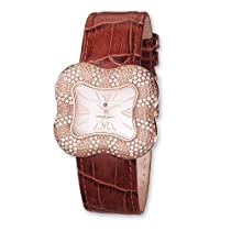 Ladies Charles Hubert Rose IP-plated Crystal 40x36mm Watch