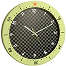Bai Speedmaster Wall Clock, Chartreuse and Black