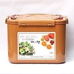Premium Kimchi, Sauerkraut Fermentation Container with Inner Vacuum Lid - 3.1 Gallon (12L)