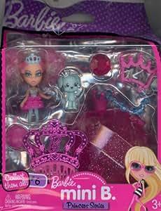 Barbie Mini B. Princess Series Doll #6 with Aqua Dog & Case w/Doll Stand