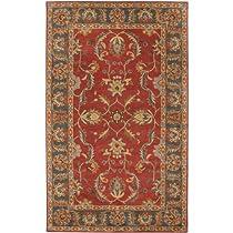 Big Sale Best Cheap Deals Surya CAE1007 Caesar Classic Hand Tufted 100% Wool Red Rug (12-Feet x 15-Feet )