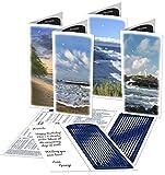 MoonBeams Shorelines, Beach Greeting Cards Assortment (lunar calendar 2016 inside), 8 set