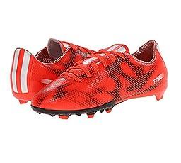 adidas Performance F10 Firm-Ground J Soccer Cleat (Little Kid/Big Kid), Solar Red/Running White/Black, 11 M US Little Kid
