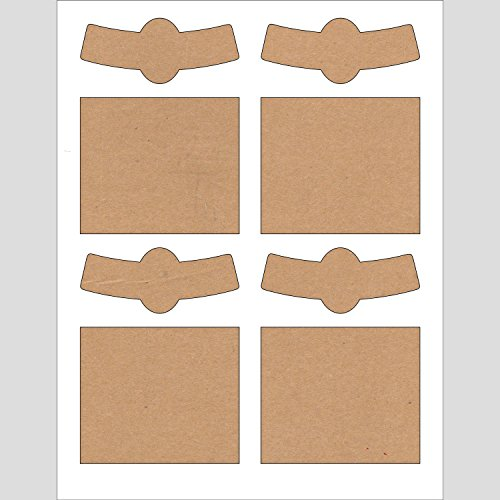 Beer Bottle with Neck Labels for 20 Beer Bottles, 3.5 x 4.75 inches (Kraft) (Beer Label Paper compare prices)