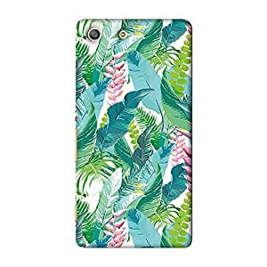 ArtzFolio Exotic Flowers And Leaves : Sony Xperia M5 Matte Polycarbonate ORIGINAL BRANDED Mobile Cell Phone Protective BACK CASE COVER Protector : BEST DESIGNER Hard Shockproof Scratch-Proof Accessories