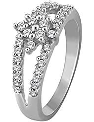 0.23 CTW Diamond Star Split Shank Promise Ring 14K White Gold