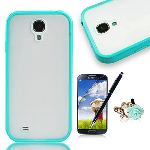 Nextmall Blauer Kasten Fall PC+TPU Schutzhulle Samsung Galaxy S4 / S4 Neo Hulle ,Skin Case Samsung Galaxy S4 i9500 / S4 Neo Silikon Tasche Hulle - Silicon Protector Schutzhulle