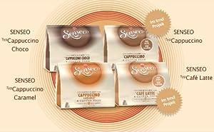 Senseo Milk-Set: Café Latte, Cappuccino, Choco Cappuccino, Cappuccino Caramel, 4 x 8 Coffee Pods
