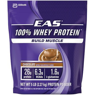 EAS Sports Nutrition 2.2Kg Chocolate Bag Whey Protein by EAS Sports Nutrition