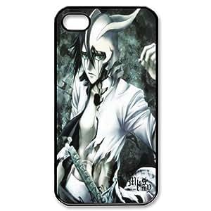 "PC-Beauty Ulquiorra¡¤Cifer-Murci¨¦lago From Cartoon ""BLEACH"" Black Print Hard Shell Cover Case for iPhone 4/4S"
