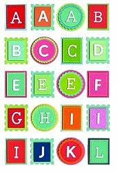 Martha Stewart Crafts Stickers, Bright Block Alphabet