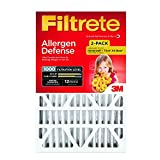 Filtrete Micro Allergen Defense Deep Pleat Filter, MPR 1000, 20-Inch x 25-Inch x 4-Inch (4-3/8-Inch Depth), 2-Pack