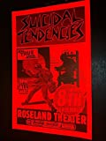 Suicidal Tendencies Rare Original Roseland Film Noir Punk Flyer Concert Poster
