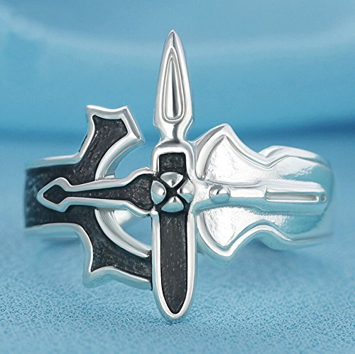 Relaxcos Sword Art Online Kirito 925 Sliver Rings Cosplay (Sword Art Online Ring compare prices)