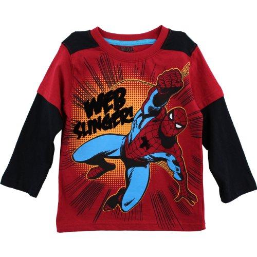"""Spider-Man Marvel Comics """"Web Slinger"""" Red T-Shirt 4-7 (5) front-1011414"""