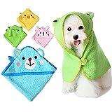 EverTrust(TM) Soft Pet Dog Cute Cartoon Pajamas Dog Bathrobe Multifunction Absorbent Pet Bath Towel Animal Puppy Cat Warm Blanket Pet Supplies