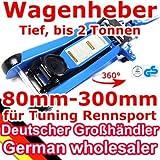 [TT600R] Low Profile Wagenheber, 80-300mm, 2T, Racing-Wagenheber, Sportwagen, Rennsport